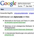 Definition Diplomatie